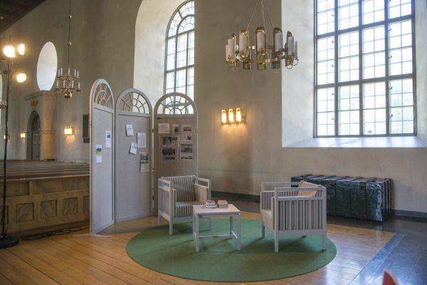Conversation space in Järvsö Church