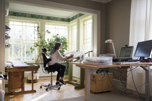Kontorsrum med burspråk